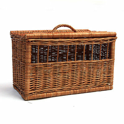 PRESTIGE WICKER RECTANGLE PET CARRIER dog cat vintage hamper