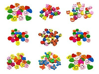 Mix Colour Childrens Fun Wooden Beads Kids Cute Animal Insect Face Kids Craft ML