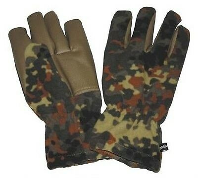 Bw Fleece Finger Winter Gloves Alpine Federal Armed Forces Camouflage Windproof