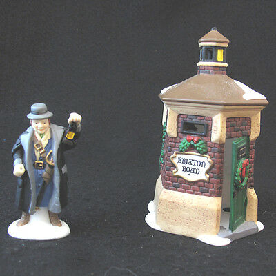 Department 56 Heritage Village Collection Brixton Road Watchman set of two