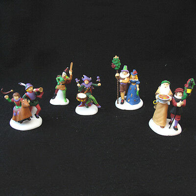 Department 56 Dickens Village Series Here We Come A Wassailing five pieces