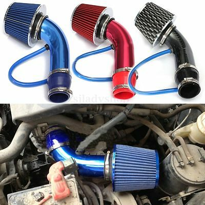 Universal Car Auto Cold Air Intake Filter Alumimum Induction Pipe HOSE System