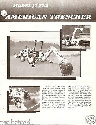 Equipment Brochure - American Trencher Bradco 32 TLB - Backhoe Loader (E2551)
