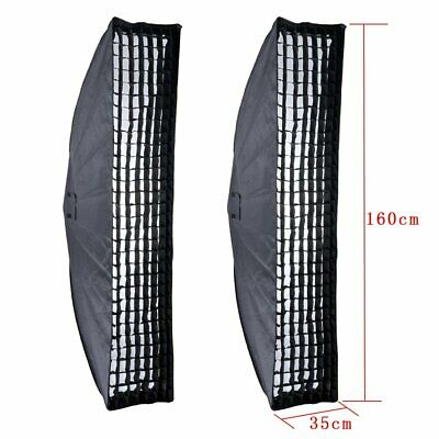 2x Godox 35x160cm Honeycomb Grid Softbox Bowens Mount for Studio Strobe Flash