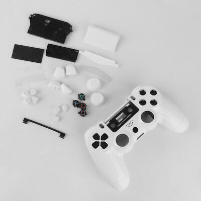 Plastic White Full Housing Shell Case for Sony Playstation PS4 Controller