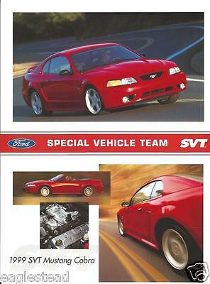 Auto Brochure - Ford - SVT Mustang Cobra - 1999 - Special Vehicle Team (AB638)