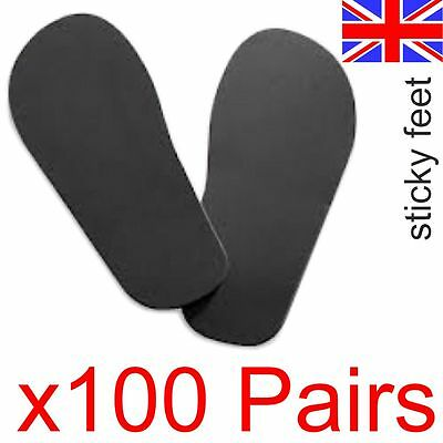 100 Pairs Of Disposable Feet For Sun Beds & Tanning (4 x packs of 25 =100 pairs)