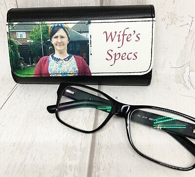 PictaLeather Personalised hard glasses spectacle case add photographs logos etc