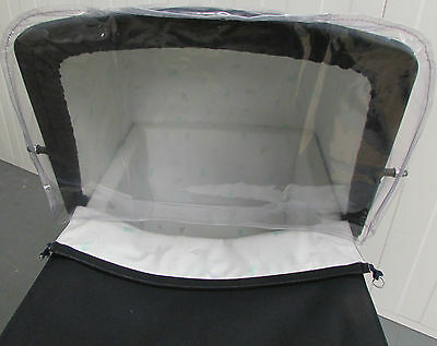 RAIN WIND SHIELD TO FIT SILVER CROSS DOLLS PRAM Coach Built Pram Spares FREEPOST