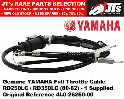 Genuine Yamaha Throttle Cable for RD250LC / RD350LC (80-82) 4L0-26260-00 RD LC