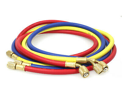 "New 1/4"" SAE 60"" 5' AC Charging Hoses Tube Refrigerant R134a Air Conditioning"