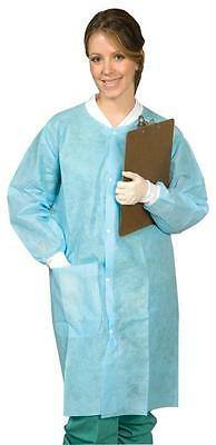 (Qty 30) Surtrex Blue Medium Lab Coats / jackets, Button Down, Disposable (A-8)