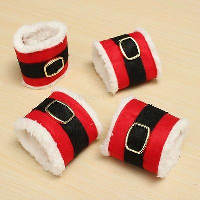 4x Natale Napkin Rings PORTATOVAGLIOLI Holder Wedding Banquet Xmas Dinner Decor