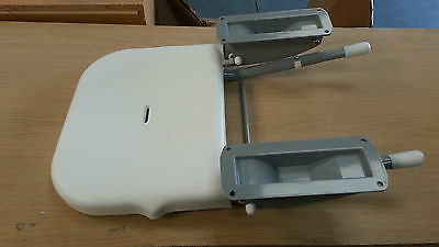 Shower Seat Aluminium Back Plates (Grey) 420mm Projection c/w Legs