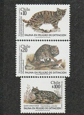 Chile 2001 Endangered Species - Chilean Wild Cats