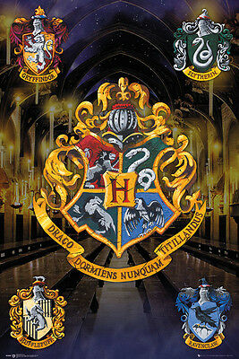 Harry Potter Crests Poster New - Maxi Size 36 x 24 Inch