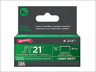 Arrow JT21 T27 Staples 8mm 5/16in Box 5000 ARRJT21516