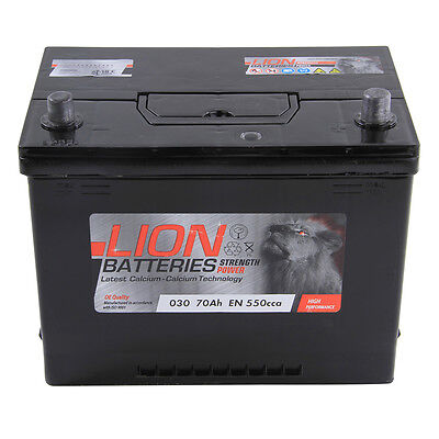 Type 030 540CCA 3 Years Warranty OEM Replacement Lion Batteries Car Battery 70Ah