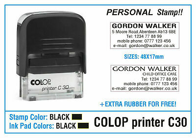 COLOP C30 Self Inking Stamp Office Service Note Symbol Business Personal Car