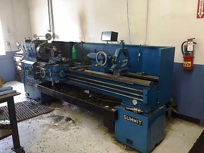 "Summit 19"" x 80"" Engine Lathe with Taper, Steady Rest"