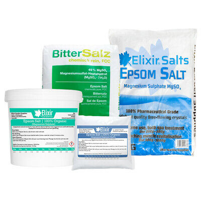EPSOM BATH SALT / 100% ORGANIC or PHARMACEUTICAL GRADE SUPPLIED IN TUB OR BAG
