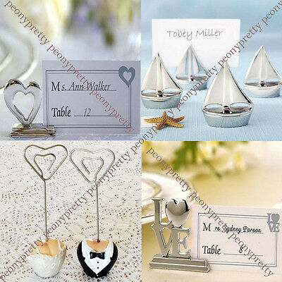 Table name place number card holder wedding party photo picture memo clip decor