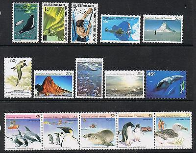 STAMPS  AUSTRALIA ANTARCTIC TERRITORY  ( MIXED LOT of 15 MNH STAMPS)  lot 1199