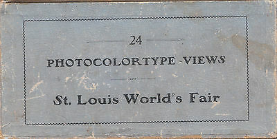 Photocolortype Views of the 1904 St. Louis World's Fair, cplt set of 24 in box.