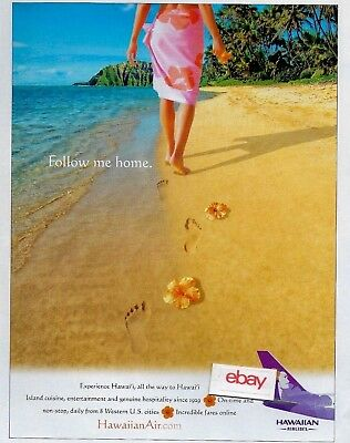 Hawaiian Airlines Follow Me Home To Hawaii From 8 Western Usa Cities 2004 Ad