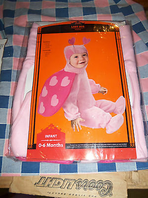 NIP Halloween Costume Infant 0-6 Months Lady Bug 1 Hood Bodysuit Wings