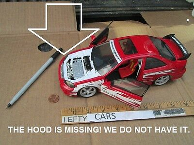 Hotwheels Red Honda Civic Si Super Street Scale - Dioramas - Missing Parts!