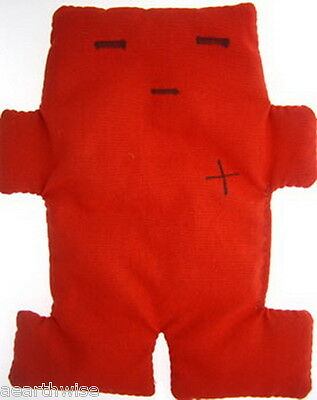 VOODOO DOLL RED 15cm FULL INSTRUCTIONS Spell Wicca Hoodoo Pagan Witch Goth SEX
