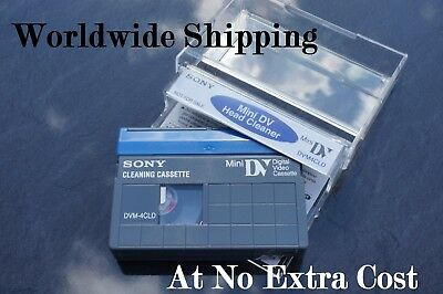 Sony Dvm4-Cld Mini Dv Camcorder Head Cleaning Tape / Cassette - Dry Gentle Type