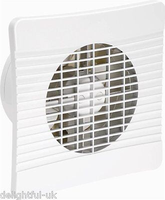 "Low Profile 6""/150mm Extractor Fan for Kitchen Ventilation - Slimline Wall Fan"
