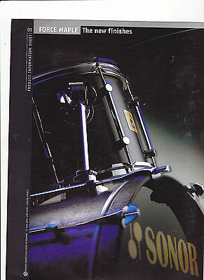 Vintage Musical Instrument Catalog #10524 - 1995 Sonor Drums - Force Maple