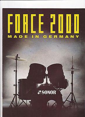 Vintage Musical Instrument Catalog #10501 - Sonor Force 2000 Drums