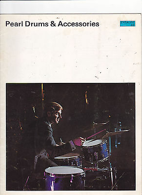 Vintage Musical Instrument Catalog #10608 - 1969  Pearl Drums & Accessories