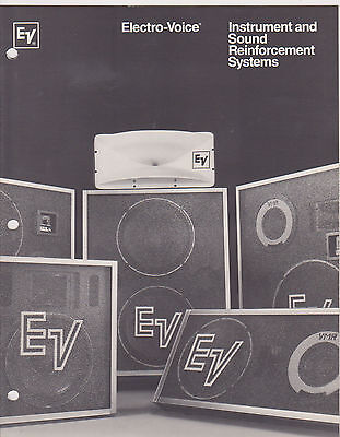 VINTAGE MUSICAL INSTRUMENT CATALOG #10461 - 1970s ELECTRO-VOICE SOUND SYSTEMS