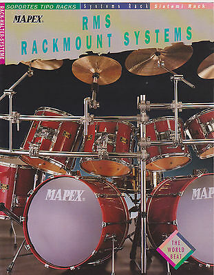 Vintage Musical Instrument Catalog #10484 - 1992 Mapex Rms Drum Rackmouts