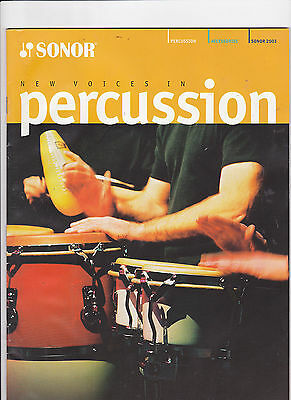 Vintage Musical Instrument Catalog #10521 - 2003 Sonor Drums Percussion