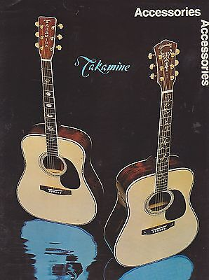 #misc-0292 - Musical Instrument Catalog - 1978 Takamine Guitar Accessories