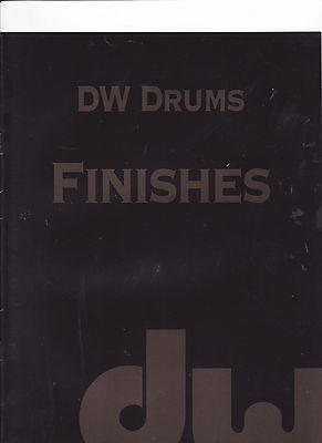 #MISC-0347 - DW DRUMS - FINISHES musical instrument catalog