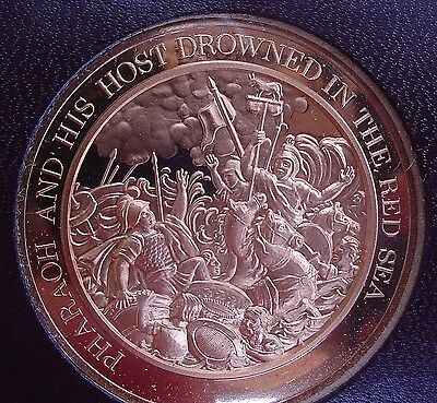 Thomason Medallic Bible 23:  PHARAOH AND HIS HOST DROWNED IN THE RED SEA.