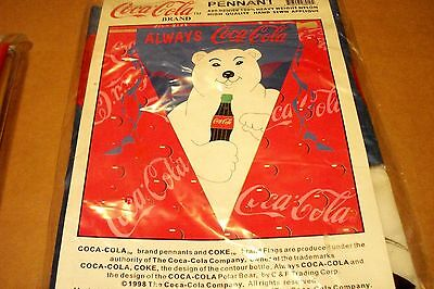 Coca-Cola 1998 Polar Bear Always Coca-Cola Pennant, New