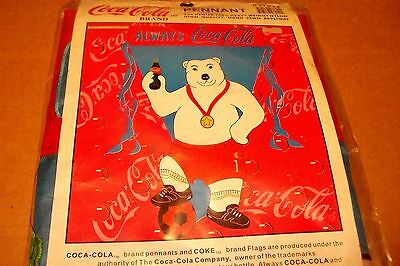 Coca-Cola 1998 Polar Bear Soccer Player Pennant, New