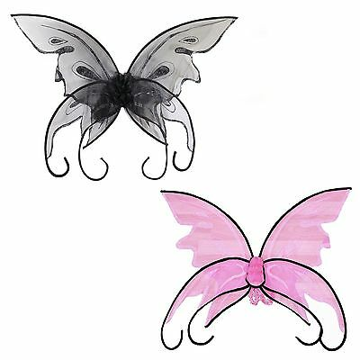 Adult Fairy Butterfly Pink Black Large Wings Costume Accessory NEW