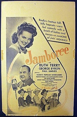 Rare 'Jamboree' Movie Poster - Ernest Tubb & His Texas Troubadours