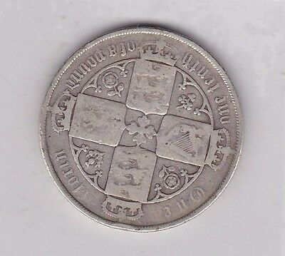 1883 Victorian Silver Florin In A Well Used Fair To Fine Condition