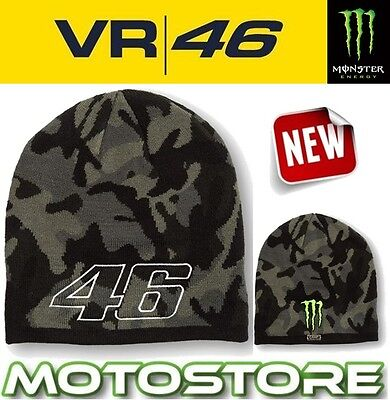 Vr46 Valentino Rossi Monster Energy Claw Camo Official Beanie Hat Camp Fortysix