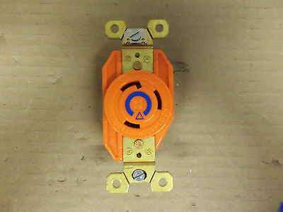 Hubbell Ig2620A Orange Twist Lock Receptacle 30 Amp 250V W/Isolated Ground